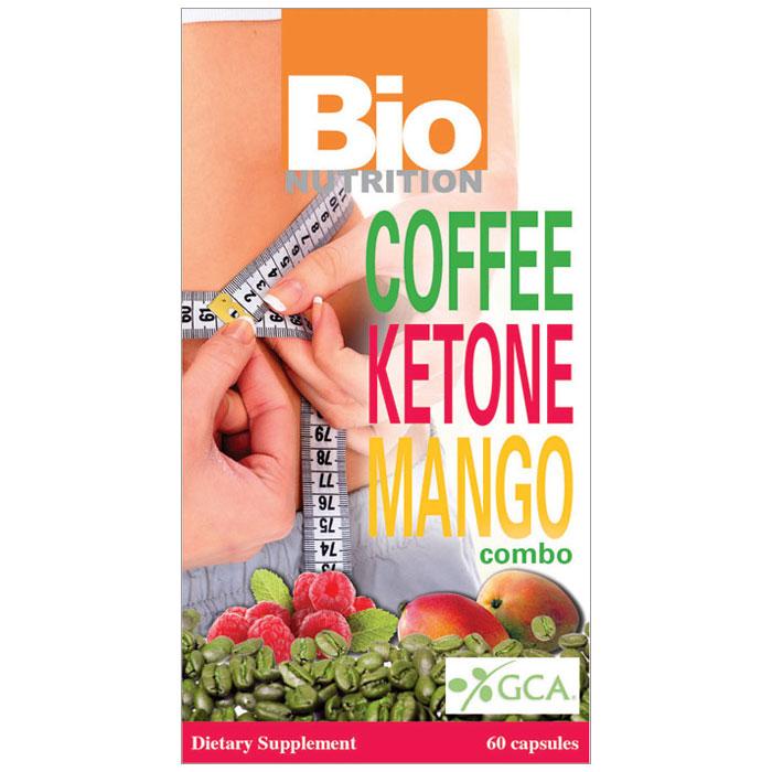 Coffee Ketone Mango Combo, 60 Capsules, Bio Nutrition Inc.