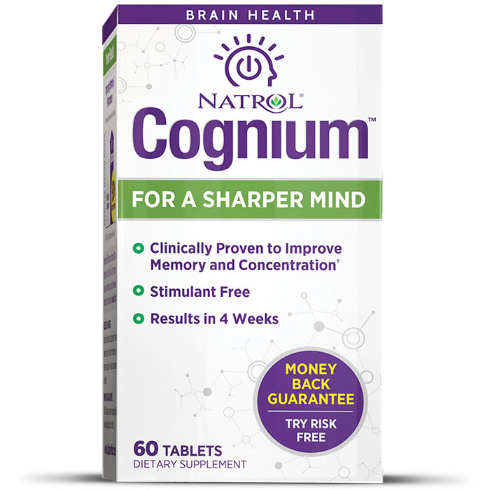 Cognium, For a Sharper Mind, 60 Tablets, Natrol