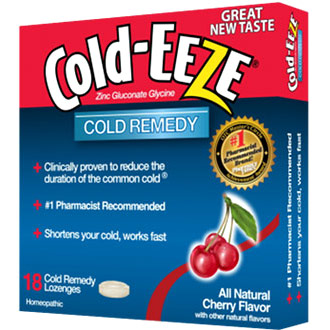 Cold Remedy Lozenges, Cherry, 18 Lozenges, Cold-EEZE Homeopathic