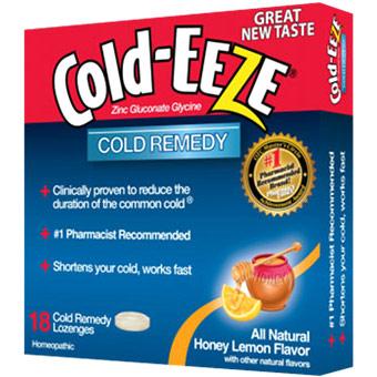 Cold Remedy Lozenges, Honey Lemon, 18 Lozenges, Cold-EEZE Homeopathic