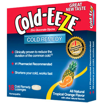 Cold Remedy Lozenges, Tropical Orange, 18 Lozenges, Cold-EEZE Homeopathic