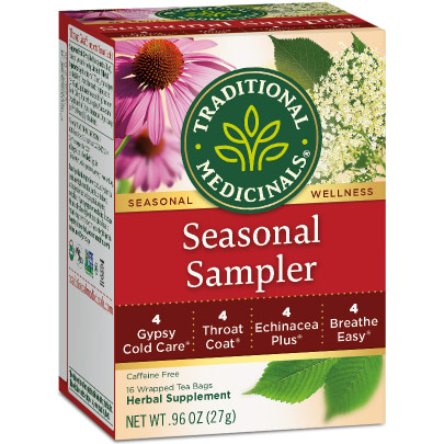 Cold Season Tea Sampler 16 bags, Traditional Medicinals Teas