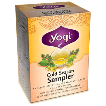 Cold Season Tea Sampler 16 tea bags from Yogi Tea