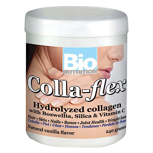 Colla Flex Powder (Hydrolyzed Collagen + Boswellia), 240 g, Bio Nutrition Inc.