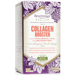 Collagen Booster, with Hyaluronic Acid & Resveratrol, 120 Veggie Capsules, ReserveAge Organics
