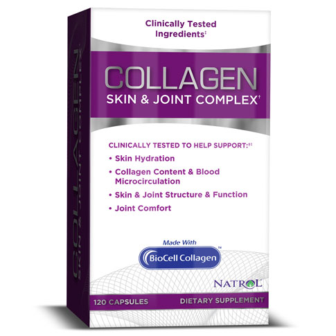 Collagen Skin & Joint Complex with BioCell, 120 Capsules, Natrol
