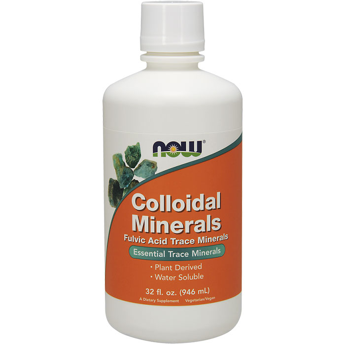 Colloidal Minerals 32 oz liquid, NOW Foods