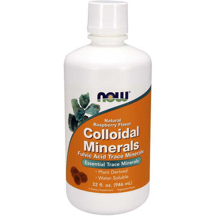 Colloidal Minerals Raspberry Flavor 32 oz liquid, NOW Foods