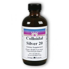 Colloidal Silver 20 PPM, 3 oz, Heritage Products