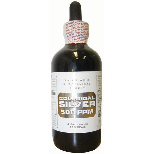 Colloidal Silver 500 PPM, 4 oz, Amino Acid & Botanical Supply