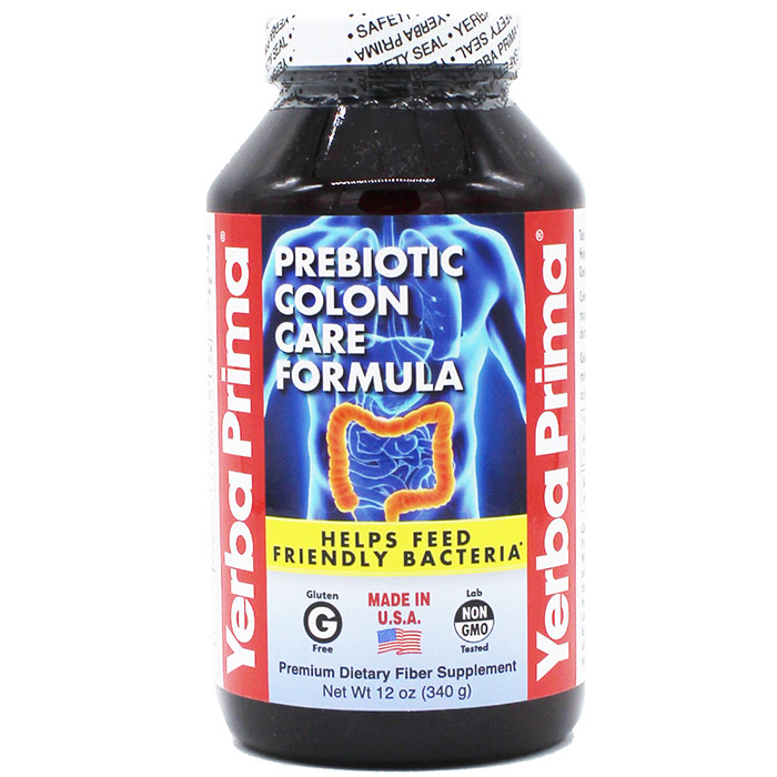Prebiotic Colon Care Formula Powder, 12 oz, Yerba Prima