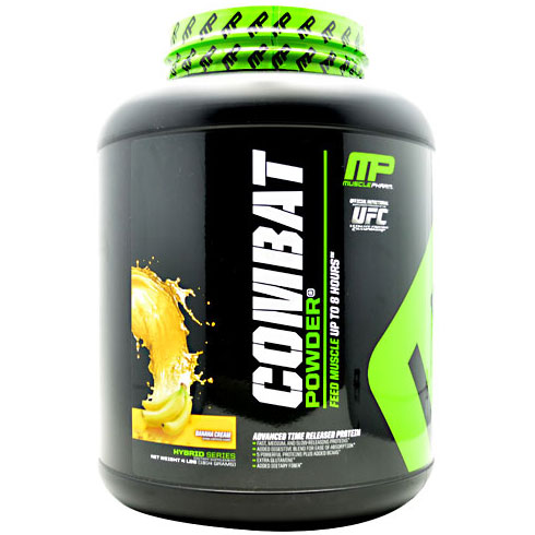 Muscle Pharm Combat Powder, Advanced Time Release Protein, 4 lb