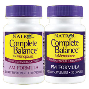 Complete Balance for Menopause AM/PM Formula, 30 + 30 Capsules, Natrol