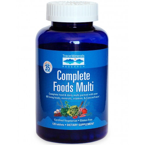 Complete Foods Multi, 120 Tablets, Trace Minerals Research