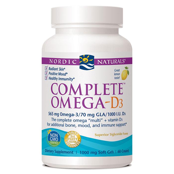 Complete Omega-D3, Omega Multi +D, Lemon Flavor, 60 Softgels, Nordic Naturals