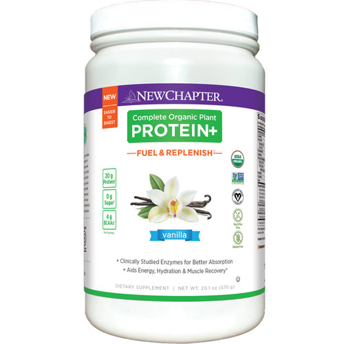 Complete Organic Plant Protein+, Fuel & Replenish Vanilla, 570 g, New Chapter