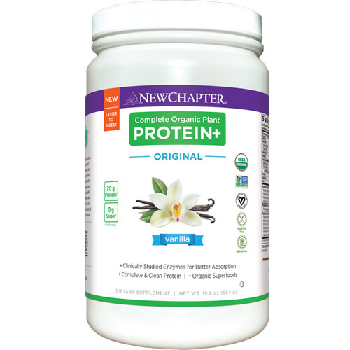 Complete Organic Plant Protein+, Orginal Vanilla, 564 g, New Chapter