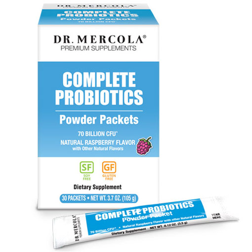 Complete Probiotics Powder Packets, 30 Packets, Dr. Mercola