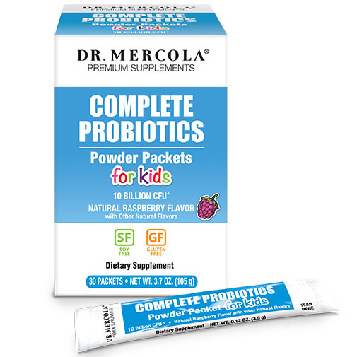 Complete Probiotics Powder Packets for Kids, 30 Packets, Dr. Mercola