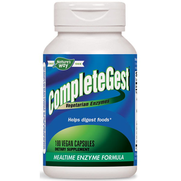 CompleteGest, Mealtime Enzyme Formula, 180 Veg Capsules, Enzymatic Therapy