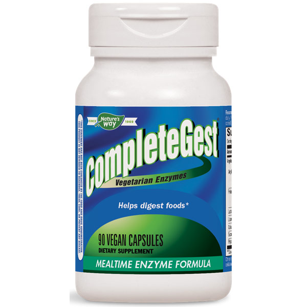 CompleteGest, Vegetarian Enzymes, 90 Veg Capsules, Enzymatic Therapy