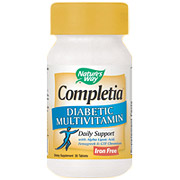 Completia Diabetic Multi, Iron-Free, 30 Tablets, Natures Way
