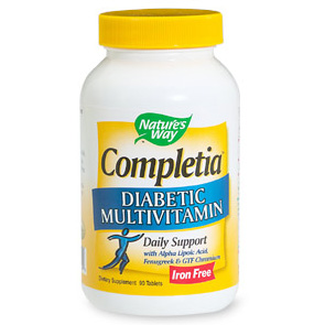 Completia Diabetic Multivitamin Iron-Free 60 tabs from Natures Way
