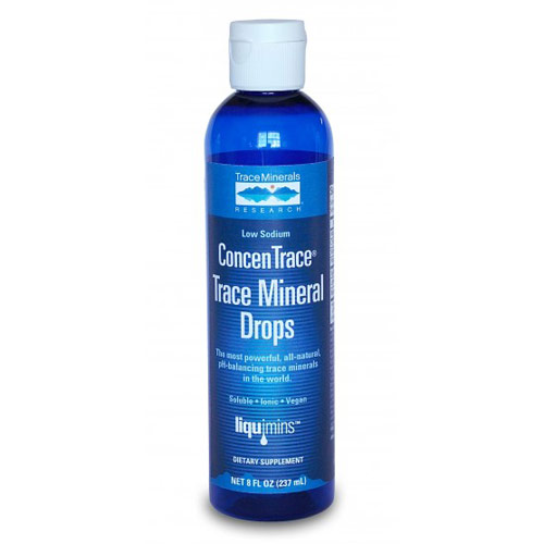ConcenTrace Trace Mineral Drops Low Sodium, 8 oz, Trace Minerals Research