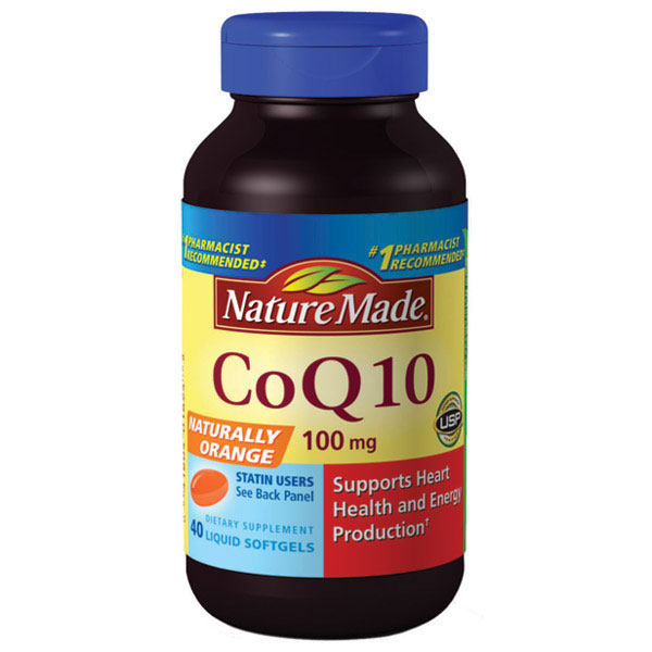 CoQ10 100 mg (CoQ-10) Naturally Orange, 72 Liquid Softgels, Nature Made