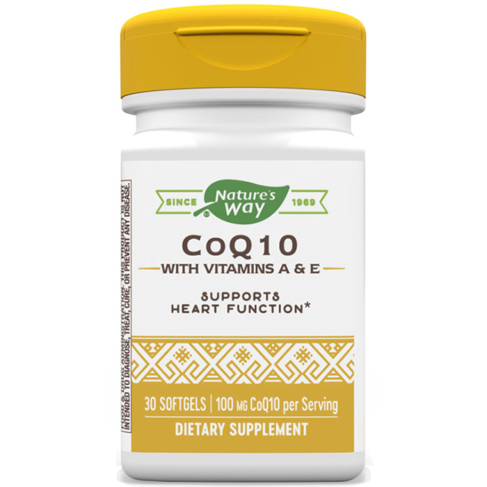 CoQ10 100mg, CoQsol Coenzyme-Q10 30 softgels from Natures Way