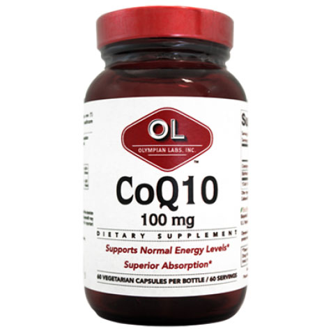 CoQ10 100 mg, 60 Veggie Caps, Olympian Labs