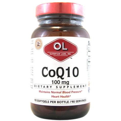 CoQ10 100 mg, 90 Softgels, Olympian Labs