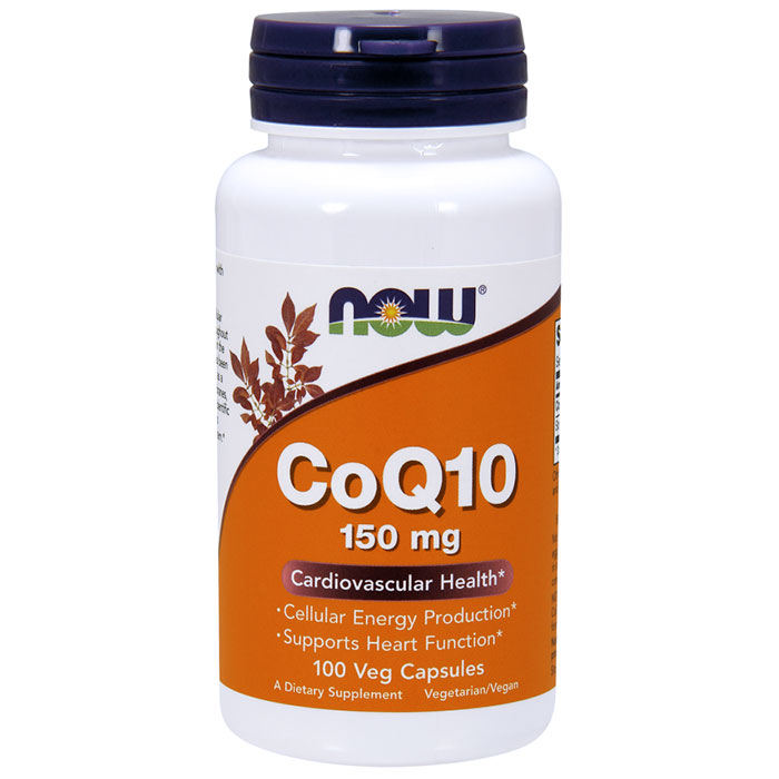 Coq10 150 mg, Coenzyme Q10, 100 Vcaps, NOW Foods