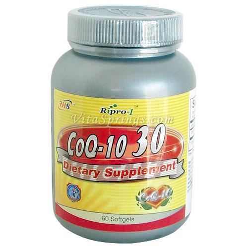 CoQ10 30 mg, 60 Softgels, Right Health