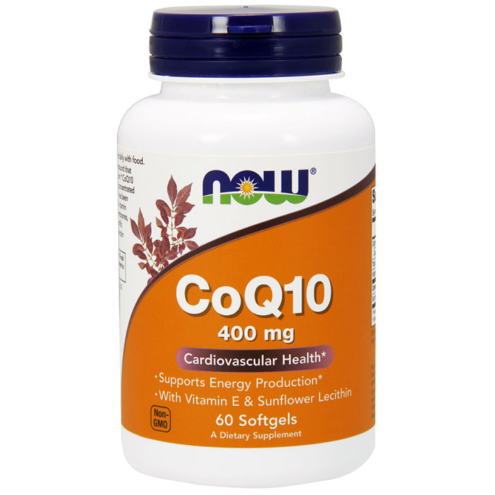 Coq10 400 mg High Potency, 60 Softgels, NOW Foods
