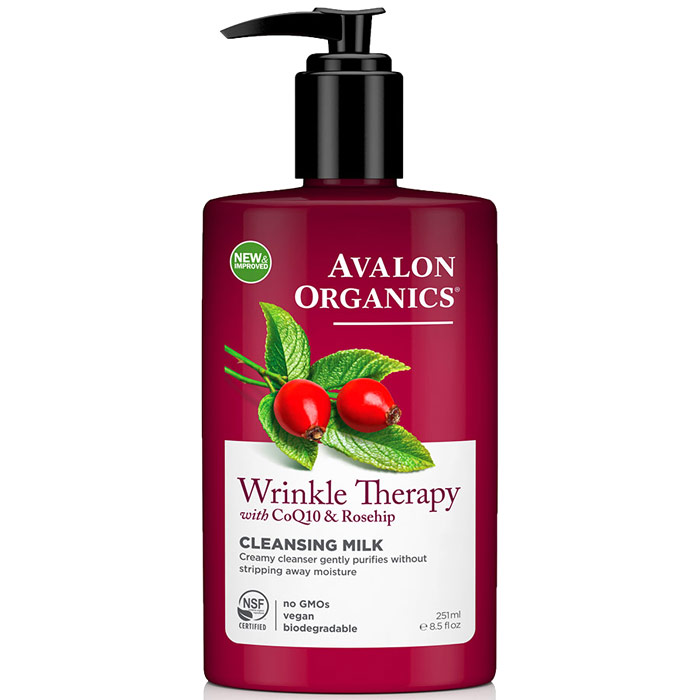 CoQ10 Facial Cleansing Creme ( Cleansing Milk ) 8.5 oz, Avalon Organics