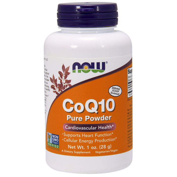 CoQ10 Powder, Pure Coenzyme Q10, 1 oz, NOW Foods