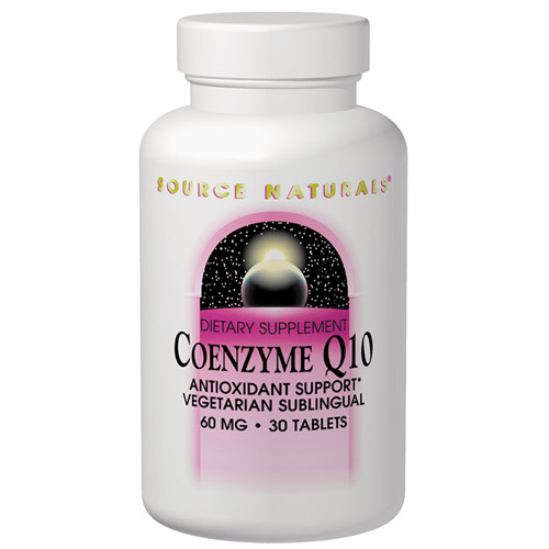 Coenzyme Q10, CoQ10 30mg Sublingual 60 tabs from Source Naturals