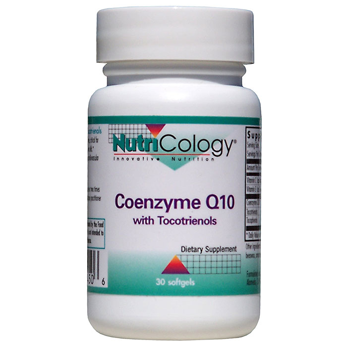 CoQ10 100mg with Tocotrienols 60 softgels from NutriCology