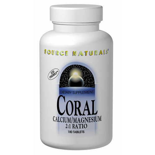 Coral Calcium / Magnesium 400/200mg 180 tabs from Source Naturals