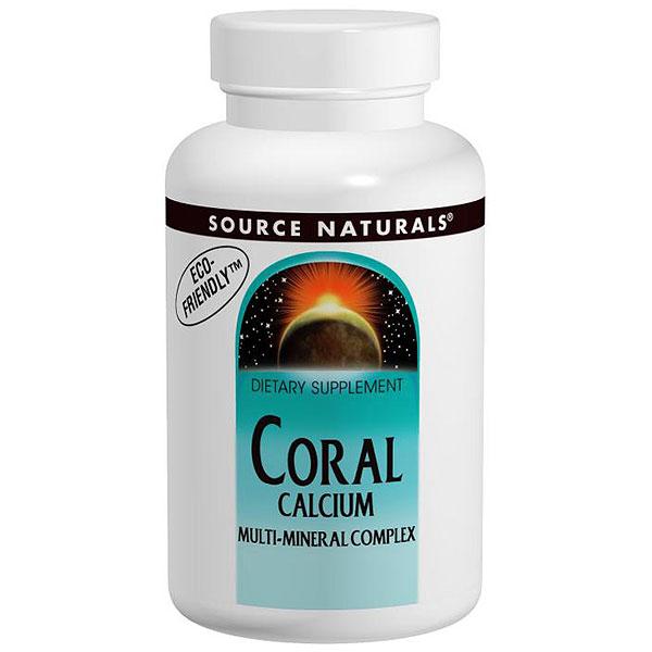 Coral Calcium Multi-Mineral Complex, 120 Tablets, Source Naturals
