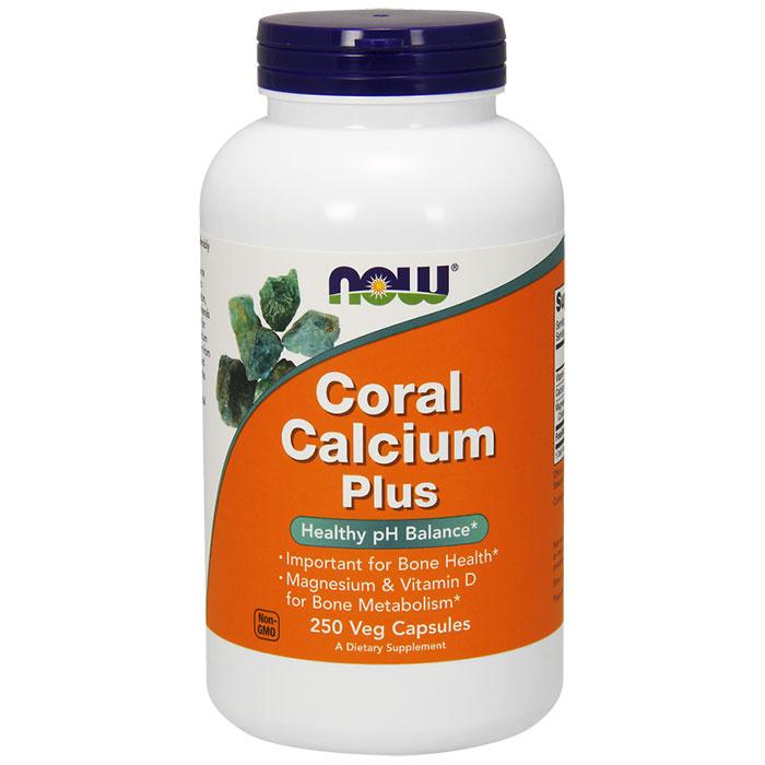 Coral Calcium Plus, With Magnesium & D, 250 Vegetarian Capsules, NOW Foods
