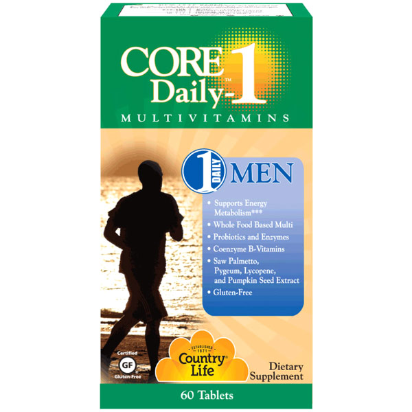 Core Daily-1 MultiVitamins for Men 50+, 60 Tablets, Country Life