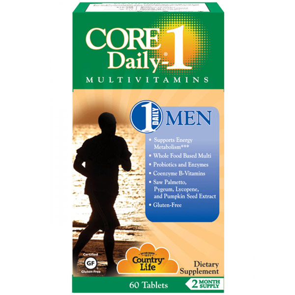 Core Daily-1 Multivitamins for Men, 60 Tablets, Country Life