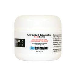 Cosmesis Anti-Oxidant Rejuvenating Foot Scrub, 2 oz, Life Extension