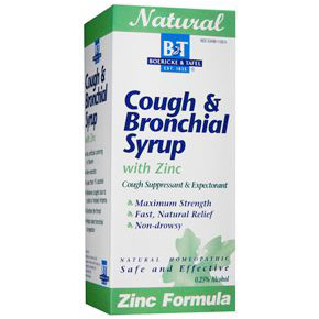 Cough & Bronchial Syrup with Zinc, 4 oz, Boericke & Tafel Homeopathic