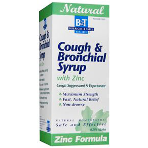 Cough & Bronchial Syrup with Zinc, 8 oz, Boericke & Tafel Homeopathic