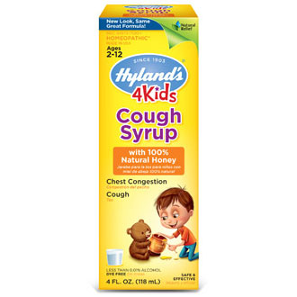Cough Syrup with 100% Natural Honey 4 Kids, 4 oz, Hylands (Hyland's)