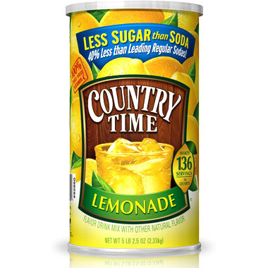 Country Time Lemonade Drink Mix, 82.5 oz (2.33 kg)