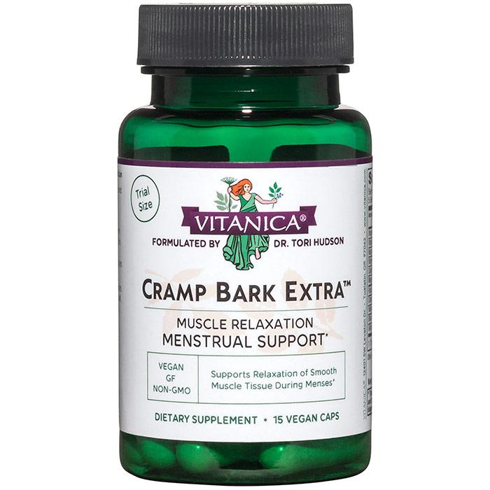 Cramp Bark Extra, Trial Size, 15 Vegetarian Capsules, Vitanica